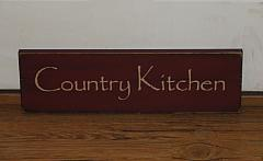 Country Kitchen Primitive Wood Sign