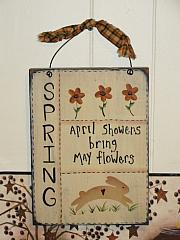 Primitive Small SPRING Sampler Plaque