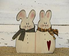 Primitive Spring Bunny Shelf Sitter
