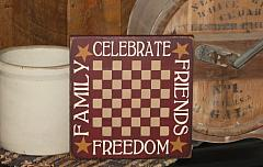 Celebrate/Family/Friends/Freedom Primitive Gameboard
