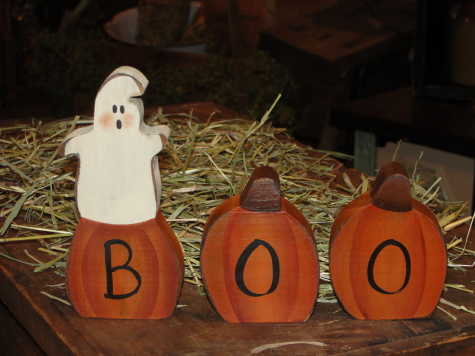 Boo The Ghost Fall Halloween Decor