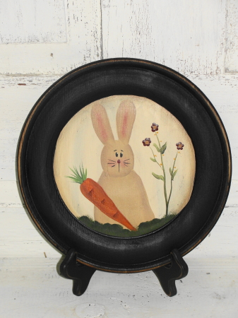 Country Bunny and Carrot Plate