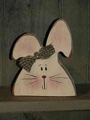 Primitive Spring Bunny Head Shelf Sitter