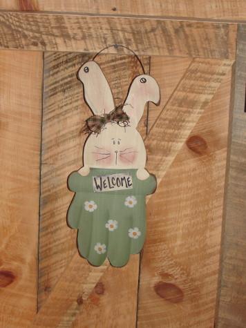 Bunny In The Glove Hanger