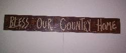 Medium Colored Crackled Finish Wood Sign