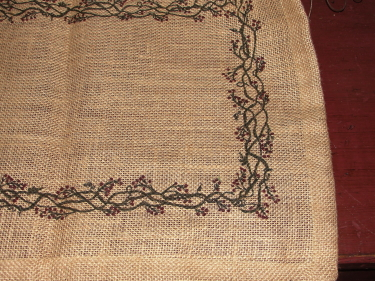 Burlap Berry Runner