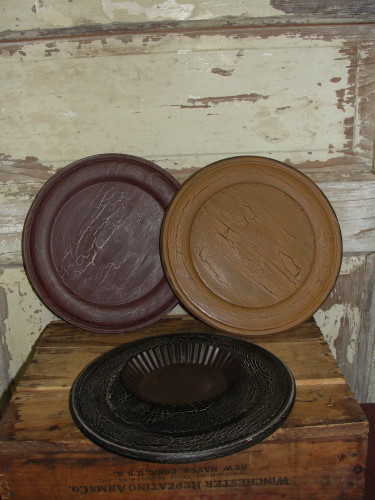 Primitive Wood Candle Plates