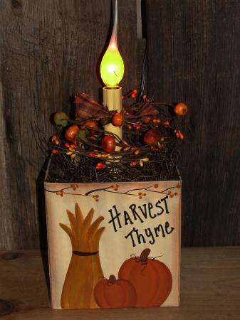 Pumpkin and Cornstalk Box Light