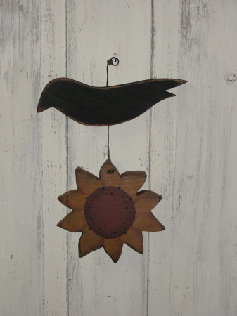Sunflower and Crow Hanger
