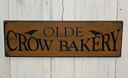 Olde Crow Bakery Primitive Wood Sign
