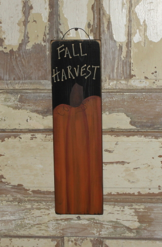 Fall Harvest Primitive Pumpkin Sign