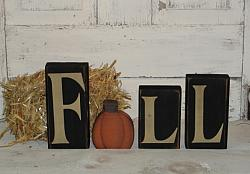 Primitive Fall Block Set with Pumpkin