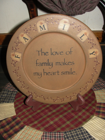 Family Primitive Plate