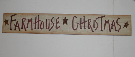 Farmhouse Christmas Crackled Finish Primitive Wood Sign