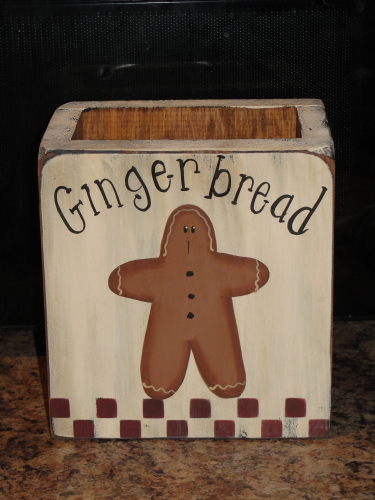 Primitive Gingerbread Wood box