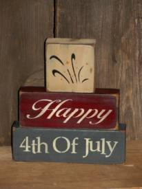 Happy 4th of July Stacking Block Set