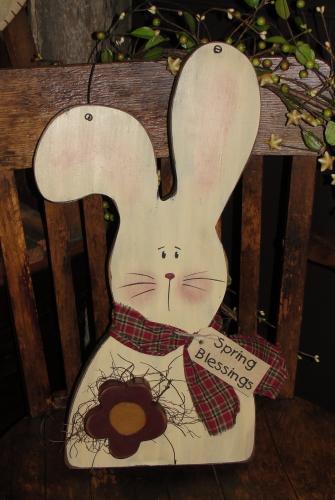 Primitive Bunny with Daisy