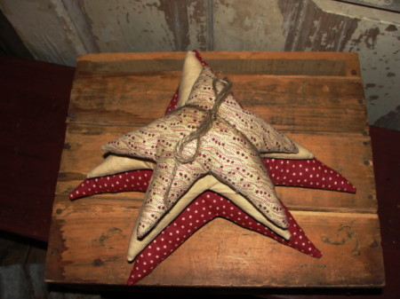 Primitive Homespun Star Stacks