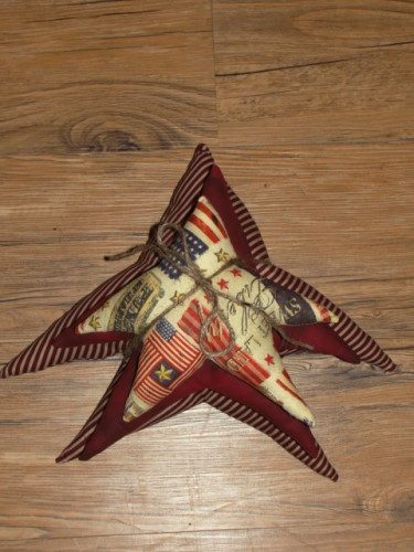 Primitive Homespun Star Stacks...Americana