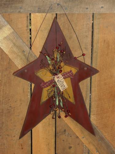 Primitive Star With Star/Berries/Twigs