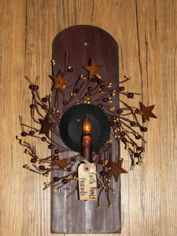 Primitive Long Reflector Sconce with Light