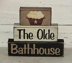 The Olde Bathhouse Primitive Wood Block Set