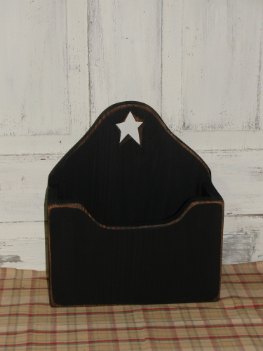 Wooden Star Box...Plate/Magazine Holder