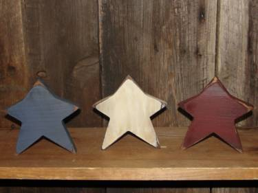 Set Americana Star Shelf Sitters