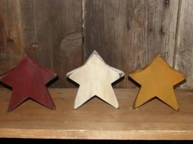 Primitive Wood Star Accent Shelf Sitters
