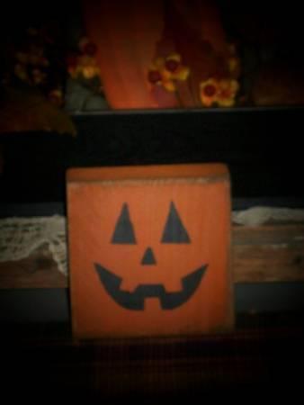Pumpkin Jack-O Face Block