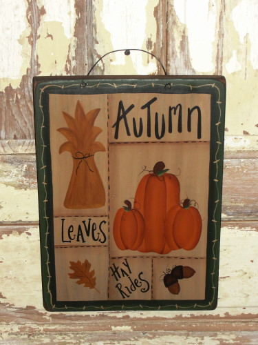 Autumn Pumpkin Sampler Plaque