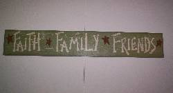 Small Colored Crackled Wood Sign