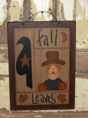 Fall Scarecrow Sampler Plaque