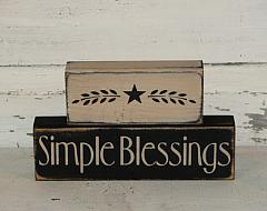 Simple Blessings with Star Wood Block Set
