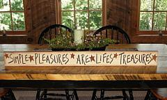 Large Crackled Primitive Wood Signs /Six sayings available
