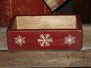 Winter Snowflake Primitive Box