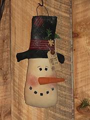 Hanging Muslin Snowman