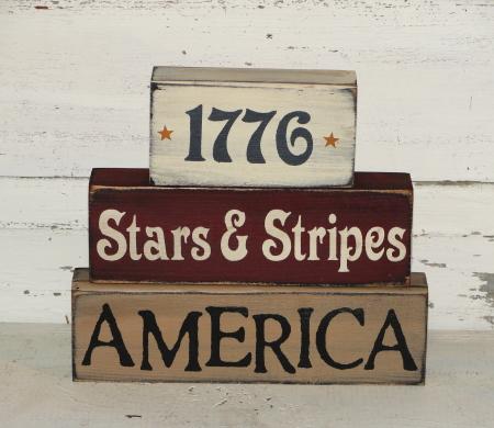 Primitive Americana and Summer Wood Block Sets