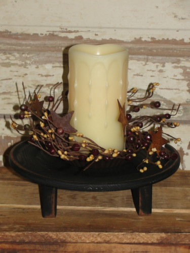 Candle Riser Arrangement with Timer Pillar Candle