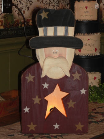 Uncle Sam Star Box Light / Burgundy