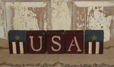 USA Block Set with Flag Block
