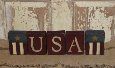 USA Block Set with Flag Block