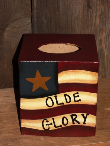 Olde Glory Flag Tissue Box