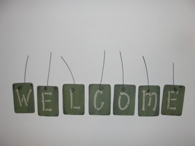 Welcome Hanging Words